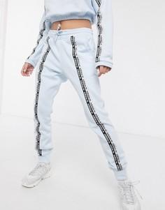 Голубые джоггеры с лентой adidas Originals RYV-Синий