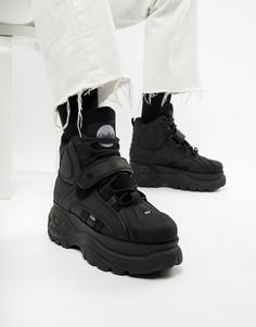 Черные высокие кроссовки на массивной подошве Buffalo-Черный