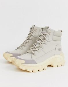 Серые ботинки на массивной подошве Caterpillar-Серый
