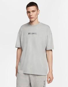 Серая футболка Nike Just Do It-Серый
