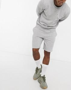 Серые меланжевые трикотажные шорты от комплекта Brave Soul-Серый