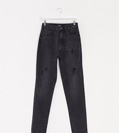 Черные джинсы в винтажном стиле с завышенной талией Vero Moda Tall-Черный