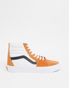 Высокие кеды абрикосового цвета Vans SK8-Hi Retro Sport-Оранжевый