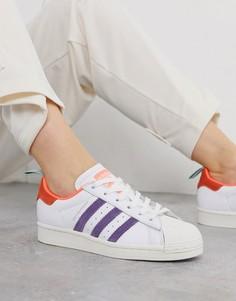 Розовые кроссовки со вставками металлик adidas Originals x Girls are Awesome Superstar-Темно-синий