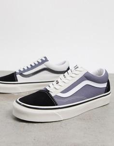 Кроссовки с черной/серой/белой отделкой Vans Anaheim Old Skool 36 DX-Мульти