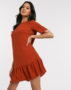 Свободное платье с заниженной талией AX Paris-Красный