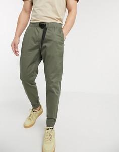 Зеленые джоггеры в стиле милитари с пряжкой Abercrombie & Fitch-Зеленый