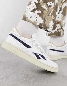 Белые кожаные кроссовки Reebok classics club c-Белый