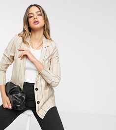 Бежевый пиджак в тонкую полоску Vero Moda Tall