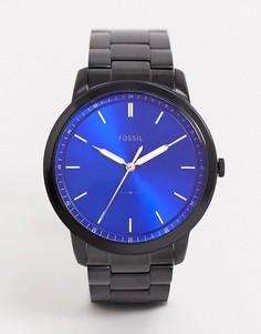 Черные наручные часы в минималистском стиле Fossil FS5693-Черный