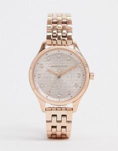 Золотистые наручные часы Michael Kors MK6799 Lexington-Розовый