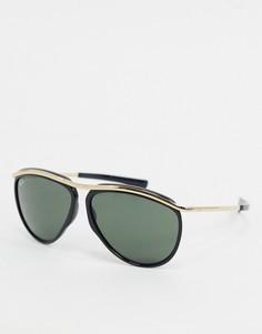 Черные солнцезащитные очки-авиаторы Ray-ban ORB2219-Черный
