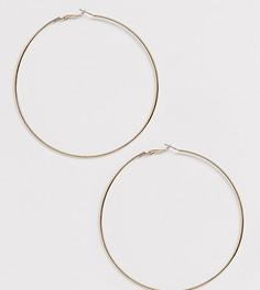 Эксклюзивные золотистые серьги-кольца Liars & Lovers-Золотой