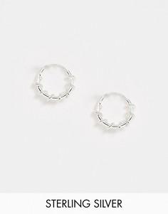Серебряные серьги-кольца Kingsley Ryan, 10 мм-Серебряный