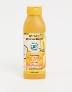 Увлажняющий шампунь для сухих волос с экстрактом банана Garnier - Ultimate Blends Hair Food, 350 мл-Бесцветный