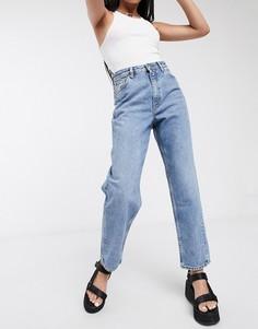 Синие джинсы из органического хлопка Monki-Синий