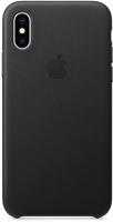 Чехол Apple Leather Case для iPhone Xs Black (MRWM2ZM/A)