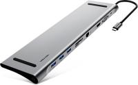 Мультифункциональная док-станция Vention USB/Type-C 10 в 1 (CMCHB)
