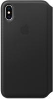 Чехол Apple Leather Folio для iPhone Xs Max Black (MRX22ZM/A)