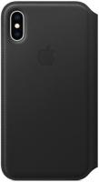 Чехол Apple Leather Folio для iPhone Xs Black (MRWW2ZM/A)