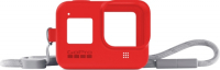 Чехол для экшн-камер GoPro Sleeve + Lanyard для Hero 8 Red (AJSST-008)
