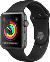 Умные часы Apple Watch S3 42mm Space Gray Aluminum Case with Black Sport Band