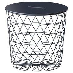 IKEA - КВИСТБРУ Столик с отделениями д/хранения ИКЕА