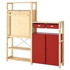 IKEA - ИВАР Стеллаж со столом/шкафами/ящиками ИКЕА