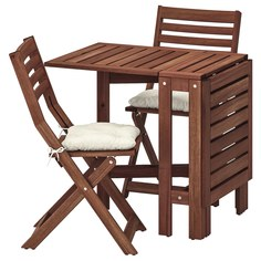 IKEA - ЭПЛАРО Стол+2 складных стула,д/сада ИКЕА