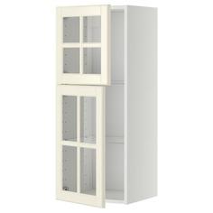 IKEA - МЕТОД Навесной шкаф с полками/2 стекл дв ИКЕА