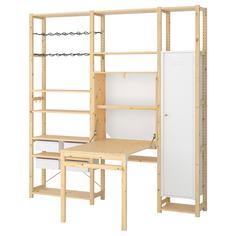 IKEA - ИВАР 3 секции д/хранения+складной столик ИКЕА