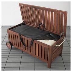 IKEA - ЭПЛАРО / ТОСТЕРО Садовая скамья+сумка д/хранения ИКЕА