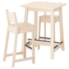 IKEA - НОРРОКЕР / НОРРОКЕР Барный стол и 2 барных стула ИКЕА