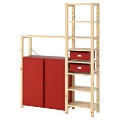 IKEA - ИВАР Стеллаж со шкафами/ящиками ИКЕА