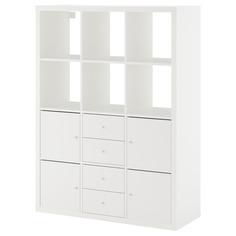 IKEA - КАЛЛАКС Стеллаж с 6 вставками ИКЕА