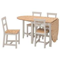 IKEA - ГЭМЛЕБИ Стол и 4 стула ИКЕА