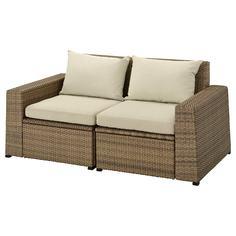 IKEA - СОЛЛЕРОН 2-местный модульный диван, садовый ИКЕА