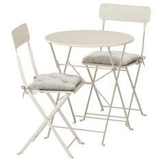 IKEA - САЛЬТХОЛЬМЕН Стол+2 складных стула,д/сада ИКЕА