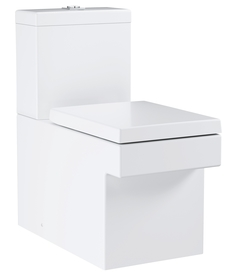 Унитаз напольный безободковый GROHE Cube Ceramic с бачком и быстросъемным сиденьем с микролифтом (NW0037)