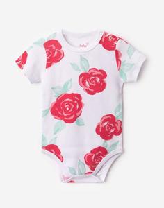 Боди с цветочным рисунком для малышки Gloria Jeans