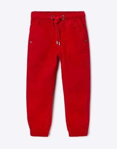 Красные брюки-джоггеры для мальчика Gloria Jeans