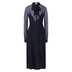 Платья Saint Laurent Шелковое платье Saint Laurent