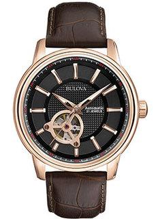 Японские наручные мужские часы Bulova 97A109. Коллекция Automatic