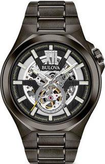 Японские наручные мужские часы Bulova 98A179. Коллекция Maquina