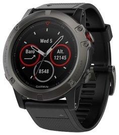 Спортивные часы Garmin Fenix 5x Sapphire (серо-черный)