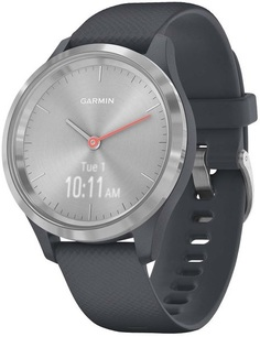 Умные часы Garmin vivomove 3S S/E EU Silver Granite Blue Silicone (010-02238-20)
