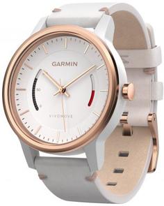 Спортивные часы Garmin Vivomove Classic с кожаным ремешком (розово-золотой)
