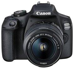 Зеркальный фотоаппарат Canon EOS 2000D 18-55 IS II (черный)