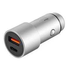 Автомобильное зарядное устройство uBear RIDE Car Charger CC04GR01-AD, серый