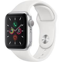 Смарт-часы Apple Watch Series 5 40 мм серебристый, спортивный ремешок